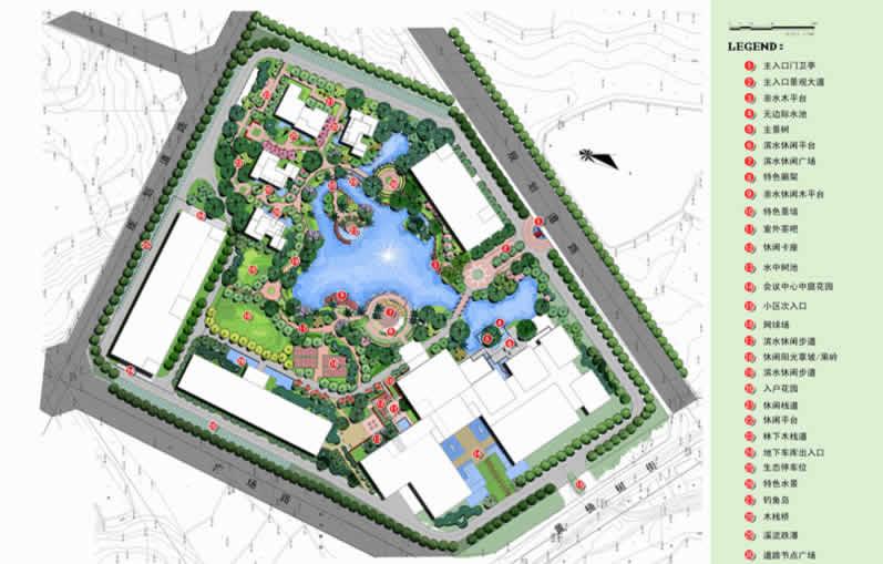 科研中心总平面图设计-风景园林设计-代表工程-四川兴